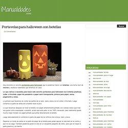 Portavelas para halloween con botellas en iManualidades.com: manualidades y bricolage