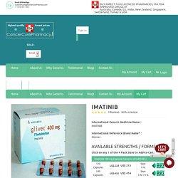 Buy Generic imatinib gleevec 100 mg, 400 mg Capsules/Tablets online