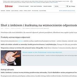 Shot z imbirem i kurkumą na wzmocnienie odporności