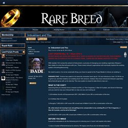 Imbuement and You - Rare Breed - Arkenstone - LOTRO - Kinship Hosting - Gamer Launch