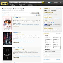 Asian movies - to recommend - a list by Ubik_0