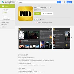 IMDb Movies & TV - Android Apps on Google Play