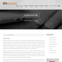 IMeSolutions Cloud Hosting Services & Cloud Support