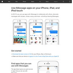 Use iMessage apps on your iPhone, iPad, and iPod touch