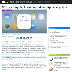 iMessage, FaceTime and App Store: Two-factor authentication security