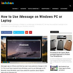 How to Use iMessage on Windows PC or Laptop [Guide]