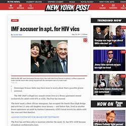 IMF accuser in apt. for HIV vics - m.NYPOST.com
