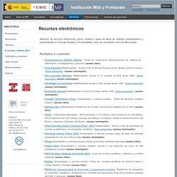 IMF - E-revistas, e-libros, BD's
