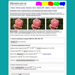 Наложить сетку на фото, картинка в клеточку онлайн - IMG online