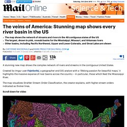 Imgur user shows map of every river basin in the US
