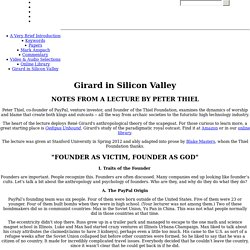 Imitatio: Girard in Silicon Valley