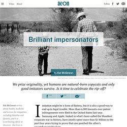 Imitation is what makes us human and creative – Kat McGowan