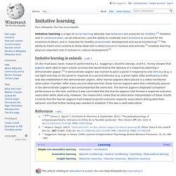 Imitative learning