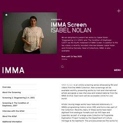 IMMA Screen #4. Isabel Nolan