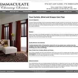 Immaculate Curtain Cleaning