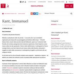 "Kant, Immanuel in ""Enciclopedia dei ragazzi"""