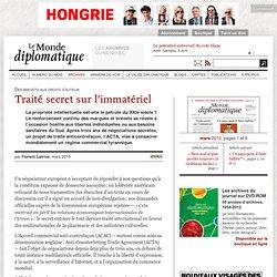 Traité secret sur l'immatériel, par Florent Latrive (Le Monde di