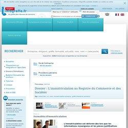 L'immatriculation au Registre du Commerce et des Sociétés