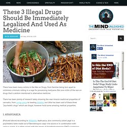 These 3 Illegal Drugs Should be Immediately Legalized and Used as Medicine