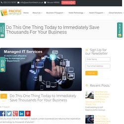 Do This One Thing Today to Immediately Save Thousands For Your Business