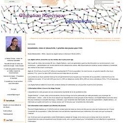 Immédiateté, choix et interactivité, 3 priorités des jeunes pour l'info : EDUCATION NUMERIQUE
