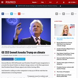 GE CEO Immelt knocks Trump on climate