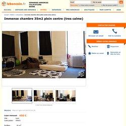 Immense chambre 35m2 plein centre (tres calme) Colocations Rhône