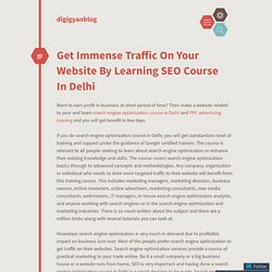 Get Immense Traffic On Your Website By Learning SEO Course In Delhi