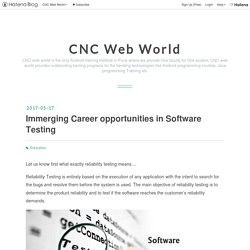 Immerging Career opportunities in Software Testing