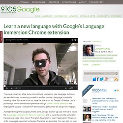 Learn a new language with Google's Language Immersion Chrome extension