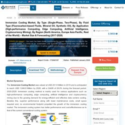 Immersion Cooling Market Size, Growth – Industry Analysis Report 2028