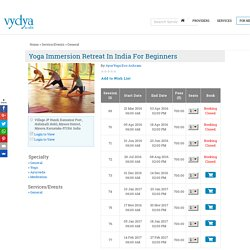 Yoga Immersion Retreat in India for beginners