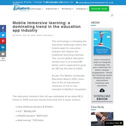 Mobile immersive learning: a dominating trend in the education app industry -