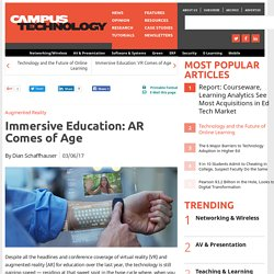 Immersive Education: AR Comes of Age