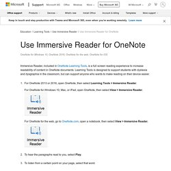 Use Immersive Reader for OneNote - Office Support