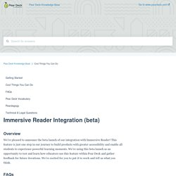 Immersive Reader Integration (beta)