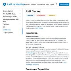 AMP Stories Editor - Immersive Storytelling : AMP for WordPress