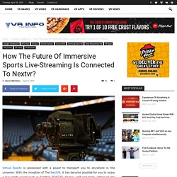 How The Future Of Immersive Sports Live-Streaming Is Connected To Nextvr?