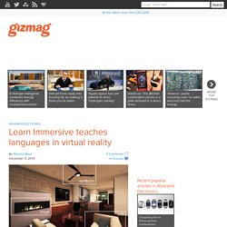 Learn Immersive teaches languages in virtual reality