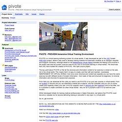 pivote - PIVOTE - PREVIEW Immersive Virtual Training Environment