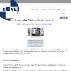 Duke immersive Virtual Environment