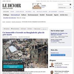 Un immeuble s'écroule au Bangladesh: plus de 300 morts