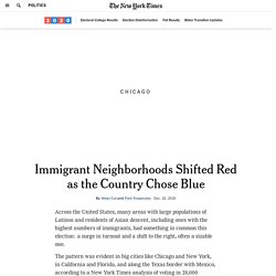 Where Immigrant Neighborhoods Swung Right in the Election