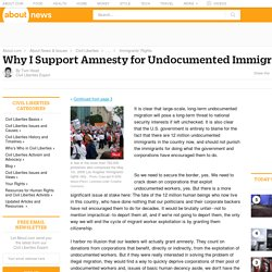 Why Immigrant Amnesty is the Best Solution to Border Security Issues - Border Security Issues and Immigrant Amnesty