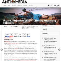 Migrants, Immigrants or Refugees? Debunking Dehumanizing Propaganda