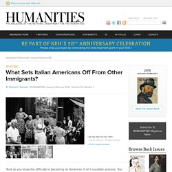 What Sets Italian Americans Off From Other Immigrants?