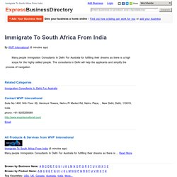 Immigration Consultants In Delhi For Australia
