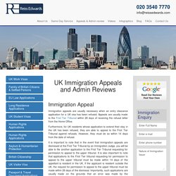 UK Visa immigration Appeals - Visa Refusal - Administrative Review
