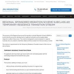 Get Aid from best 187 visa Agent in Australia. JMJmigration