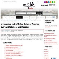 Immigration to the United States of America: Current Challenges and Debates